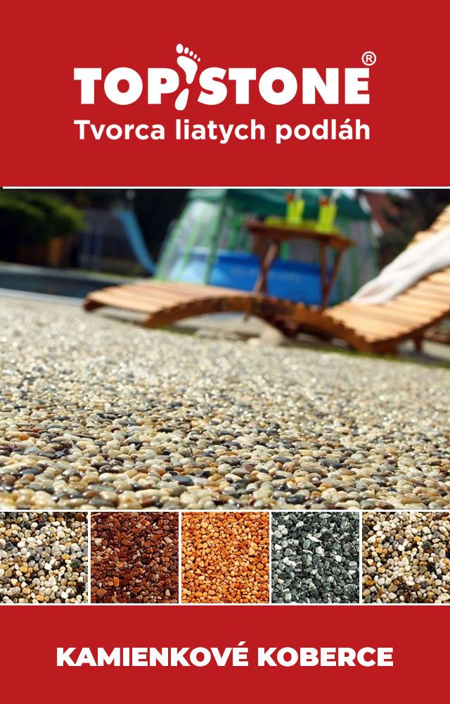 Topstone, kamienkové koberce, liate podlahy